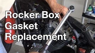9. How To: Harley Davidson Sportster Rocker box gasket replacement. part 1