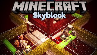 Skyblock Blaze & Wither Skeleton Farm! • Minecraft 1.15 Skyblock (Tutorial Let's Play) [Part 17]