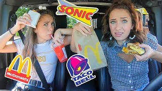 Video Letting The Person In Front of Us Decide What We Eat for 24 Hours | Drive Thru Challenge MP3, 3GP, MP4, WEBM, AVI, FLV Juni 2019