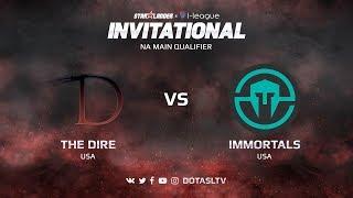 The Dire против Immortals, Первая карта, NA квалификация SL i-League Invitational S3