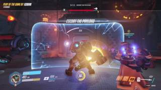 Overwatch | I don't usually play Reinhardt, but when I do I am actually useful! | Reinhardt POTG