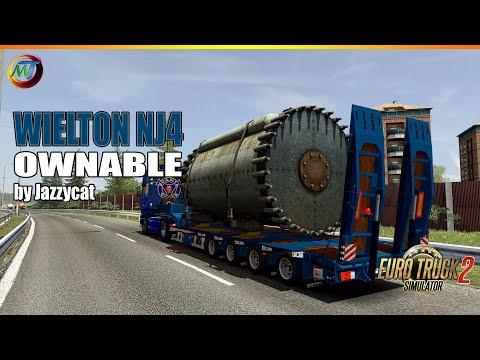 Ownable overweight trailer Wielton NJ4 v1.7.3