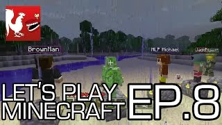 Let's Play Minecraft Part 8 - Build a Tower Part 1