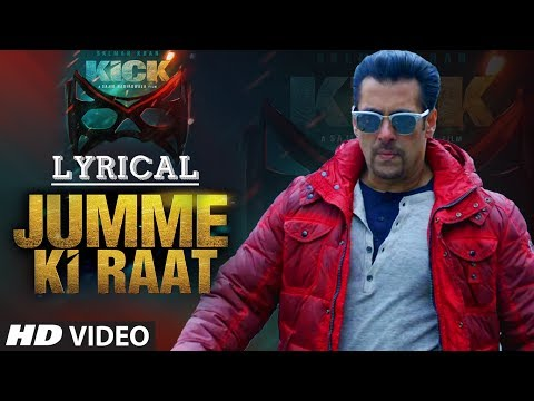 raat - Now you have an option of singing with Bhai on Jumme Ki Raat. Play this lyrical video and sing and move along with Salman Khan. Click to Share it on Facebook - http://bit.ly/JummeKiRaatLyrical...