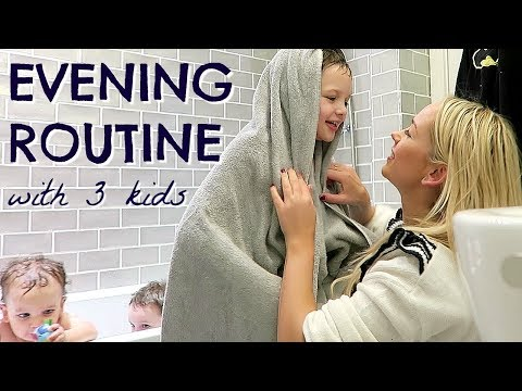 EVENING ROUTINE OF A MOM MUM WITH 3 KIDS ALONE BEDTIME ROUTINE EMILY NORRIS