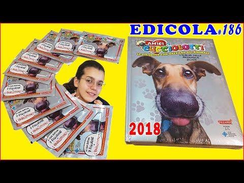 AMICI CUCCIOLOTTI 2018 Album bustine e sorpresa (Edicola by Giulia Guerra) (видео)