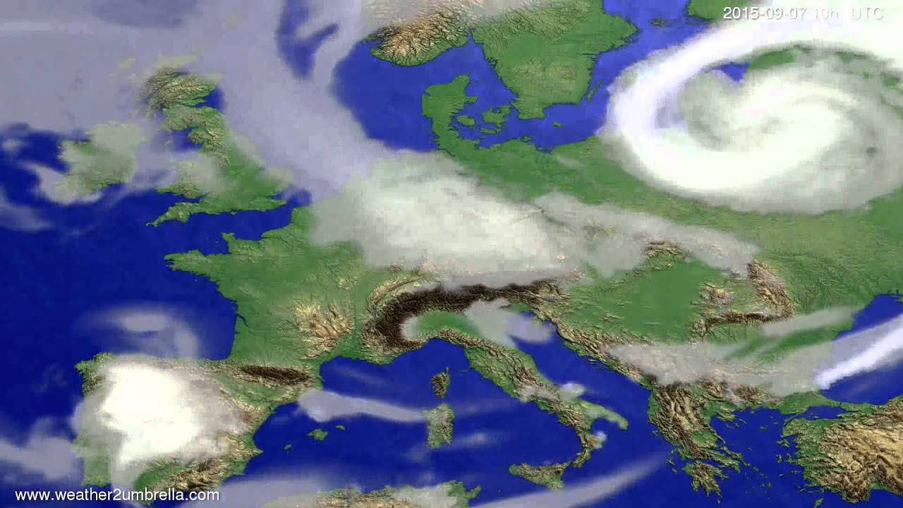 Cloud forecast Europe 2015-09-04