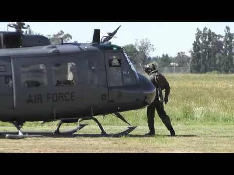 3 SQN RNZAF  BELL UH-1 HUEY START UP & HOVER TAXI