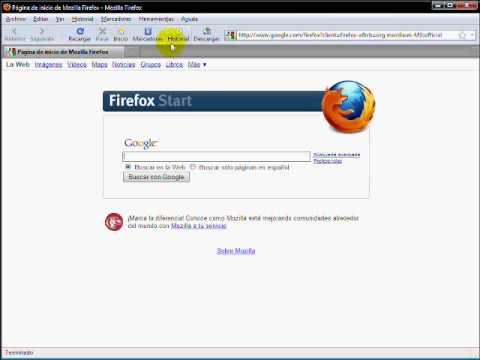 Video 3 de Mozilla Firefox: Configuraciones adicionales