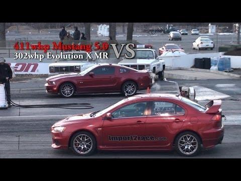 Ford Mustang vs. Mitsubishi EVO
