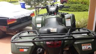 8. 2013 Honda foreman 500 review