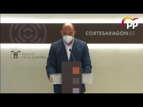 El PP pide al Gobierno aragonés aclarar su propuesta sobre bonificaciones en los municipios generadores de energía verde