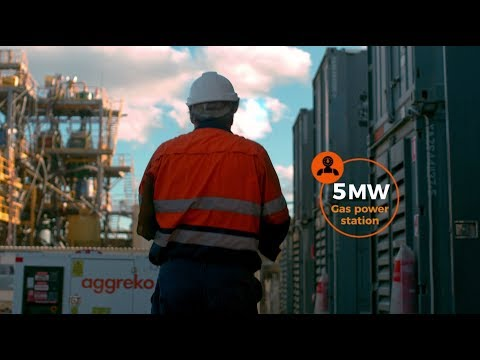Aggreko powers underground mine with a one of a kind gas power station
