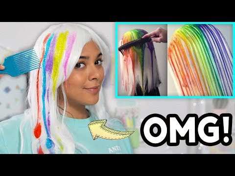 New hairstyle - Beauty Busters: I Tried The Drip Dye Method! (SCARY!)