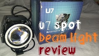 Video U7 Spot Beam Light Unboxing & Review | Regal Rider MP3, 3GP, MP4, WEBM, AVI, FLV Desember 2018