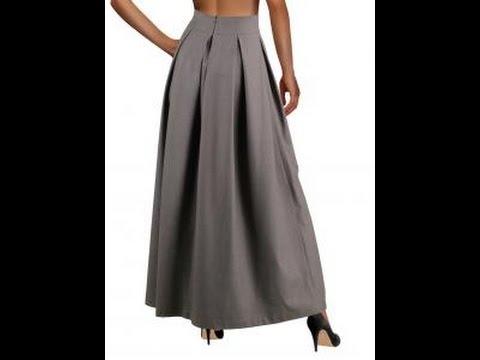Сшить юбку со складками в пол