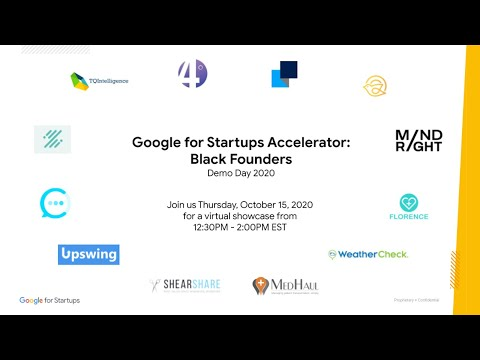 Google for Startups Accelerator: Black Founders - Demo Day 2020