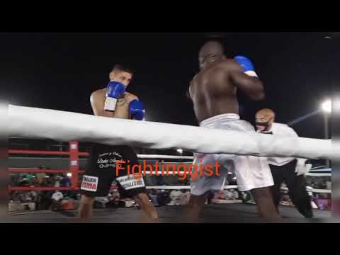Ridwan Oyekola Vs Lucas Matias Montesino Vacant WBF Super-featherweight title Full video. Completo.