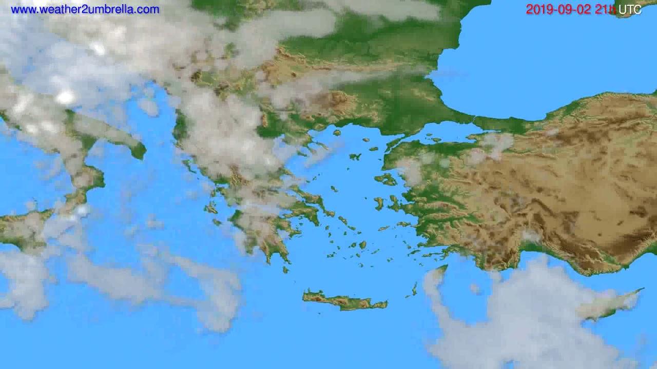 Cloud forecast Greece // modelrun: 00h UTC 2019-09-01