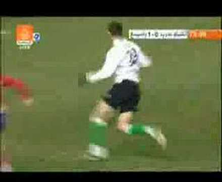 Gol de Nikola Zigic al Atlético de Madrid