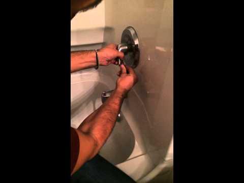 How to adjust temperature regulator on moen faucet in 2mins