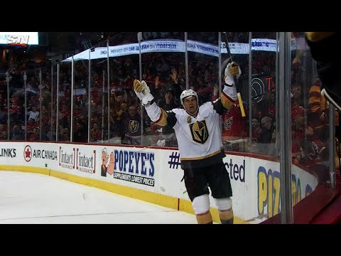 Video: Flames fold late in third period to Golden Knights