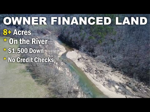 $500 down owner financing - 8 acres w/ rock building on river in the Ozarks! - ID#BC03
