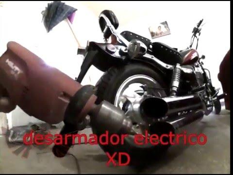 Abriendo escape Vento Rebellian 250 cc