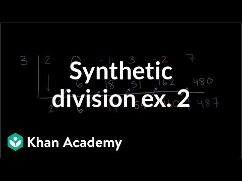 Dividing Polynomials Synthetic Division Video Khan Academy