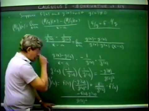 Infinitesimalrechnung I mit Prof. James Foran 01.04