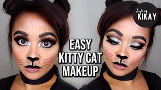 Easy Cat Makeup Tutorial for Halloween
