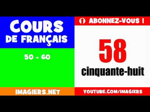 French for children = the numbers = from 50 to 60