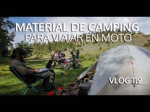 Cómo organizar un viaje en moto: Camping y cocina   Vlog #119