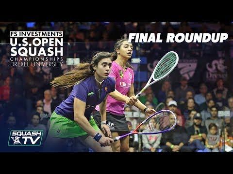 Squash: Women's Final Roundup - El Welily v El Sherbini - US Open 2018