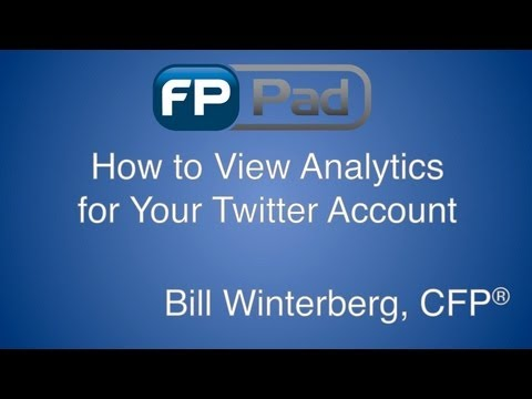Twitter Analytics for Financial Advisors