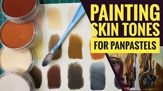 Painting skin tones with PanPastels