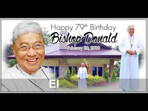 Birthday greetings - Greetings and Invitation to the 79th Birthday Celebration of Bishop Donald on February 20, 2018