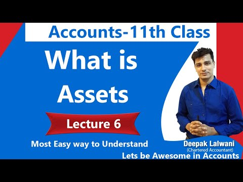 #6 Meaning of Assets | Class 11 Accounts | Daily 7 PM |Accounts Funda Class