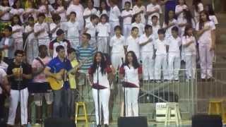 Hino Nacional – cantado por Julia Souza, aluna do Ensino Médio Matutino do Auxiliadora de Natal