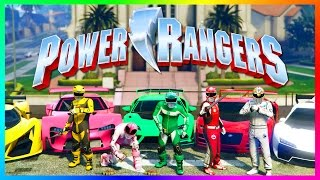 GTA ONLINE POWER RANGERS SPECIAL - GTA 5 POWER RANGERS 2017 MOVIE EASTER EGGS, SECRETS & MORE!