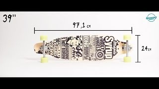 "Entity - Maple Syrup 38"" longboard"