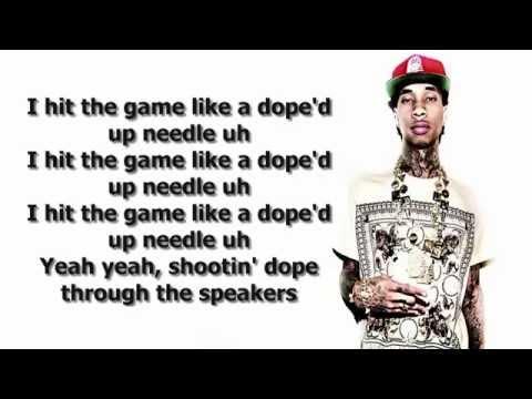 Tyga - Dope'd Up (Lyrics on Screen)