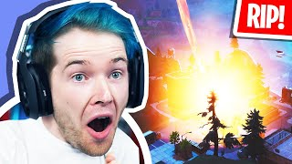 Reacting to TILTED TOWERS DESTROYED! (Fortnite Volcano Event)