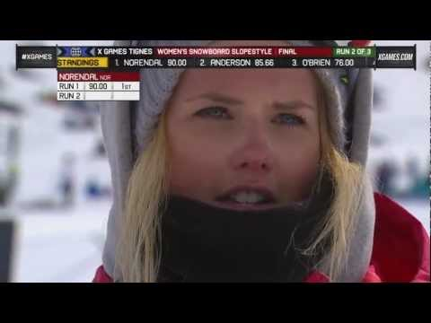 Silje Norendal - Silje Norendal wins women's snowboard slopestyle gold at X Games in Tignes France.
