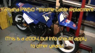 6. Yamaha PW50 throttle cable replacement
