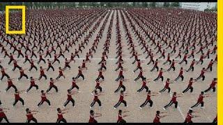 Tak się ćwiczy w największej szkole Shaolin w Chinach!