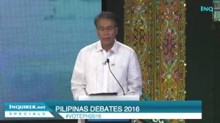Roxas's debate closing statement: I want Filipinos to have what I have