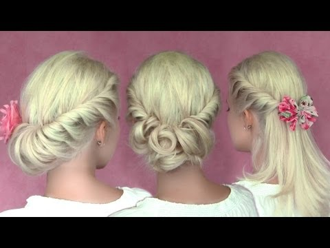 3 romantic summer hairstyles for medium long hair and short (shoulder length) hair tutorial