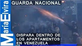 Guardia Nacional Dispara Dentro De Los Apartamentos En Venezuela.