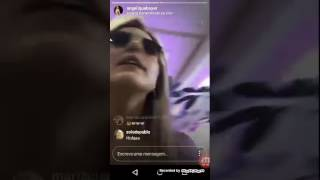 Angelique Boyer live  instagram